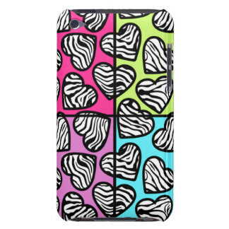 Colorful zebra hearts iPod Touch Case-Mate