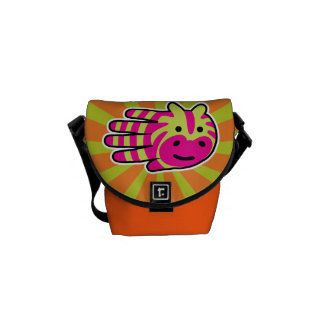 Colorful Zebra Courier Bags
