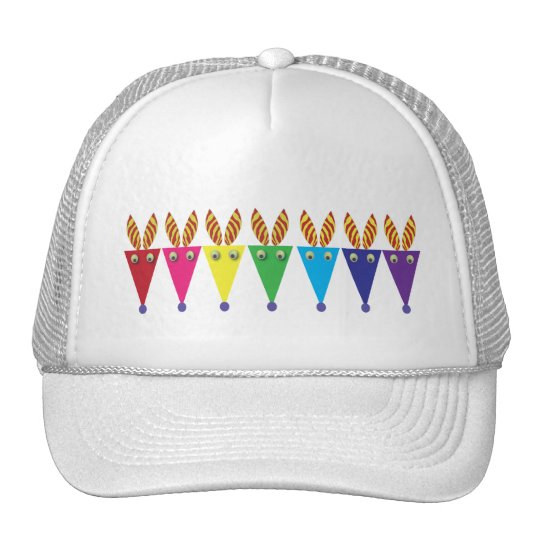 Colorful Zebra: Party Party Trucker Hat