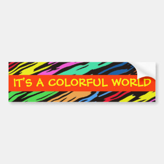 COLORFUL ZEBRA PATTERN CAR BUMPER STICKER