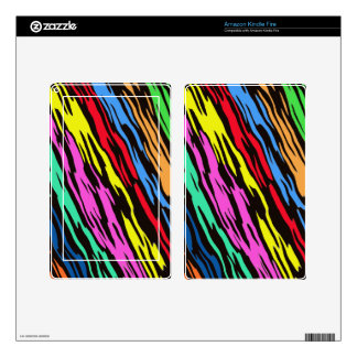 COLORFUL ZEBRA PATTERN SKIN FOR KINDLE FIRE