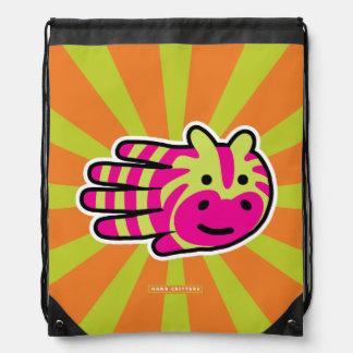 Colorful Zebra Cinch Bag