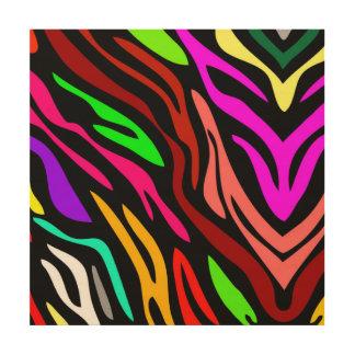 Colorful Zebra Print Pattern