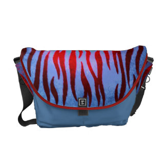 Colorful zebra striped messenger bag