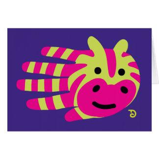 Colorful zebra stripes greeting card