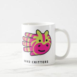 Colorful zebra stripes classic white coffee mug
