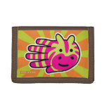 Hand shaped Colorful Zebra Stripes Trifold Wallets