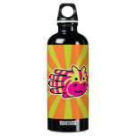 Hand shaped Colorful Zebra Stripes Water Bottle