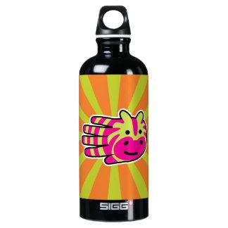 Colorful Zebra Stripes Water Bottle