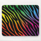 Colorful zebra texture mouse pad