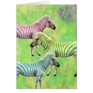 Colorful Zebras Cards