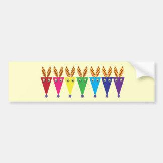 Colorful Zebras: Party Party Bumper Sticker