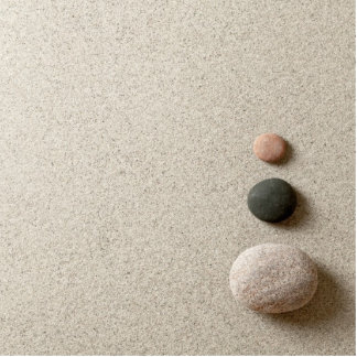 Colorful Zen Stones On Sand Background Cutout