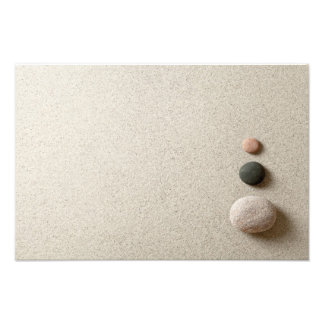 Colorful Zen Stones On Sand Background Photo