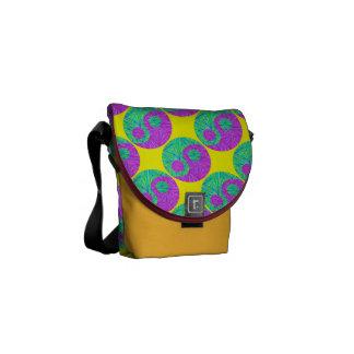 Colorful Zen Yin & Yang Art New Age Messenger Bag