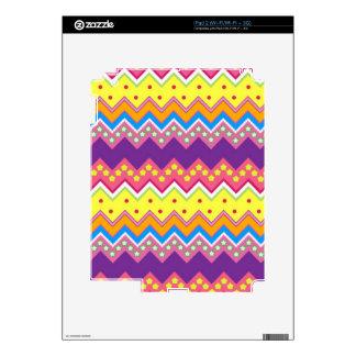 Colorful Zig Zag Stripes Chevron Pattern iPad 2 Skins
