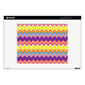 Colorful Zig Zag Stripes Chevron Pattern Laptop Decal