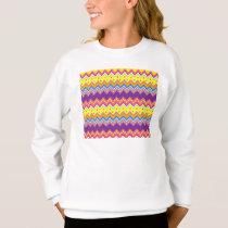 Colorful Zig Zag Stripes Chevron Pattern Sweatshirt
