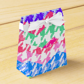 colorful zigzag chevron houndstooth favor box