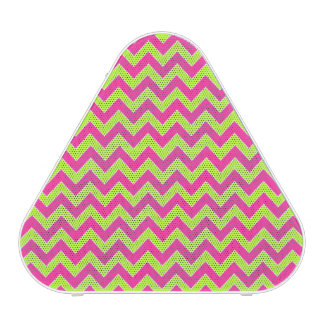 Colorful Zigzag Geometric in Pink and Green Bluetooth Speaker
