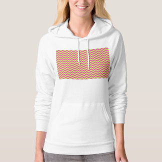 Colorful Zigzag Geometric in Pink and Green Hoodie