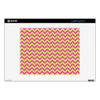 Colorful Zigzag Geometric in Pink and Green Laptop Skin