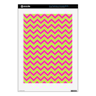 Colorful Zigzag Geometric in Pink and Green Skins For The PS3