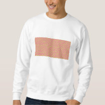 Colorful Zigzag Geometric in Pink and Green Sweatshirt