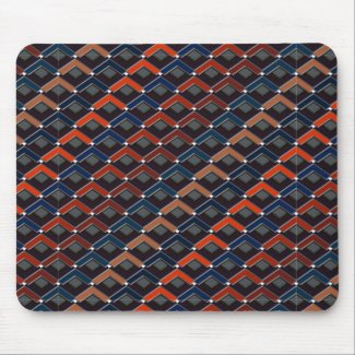 Colorful zigzag Karo-steps Mouse Pad