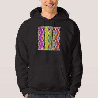 Colorful Zigzag Lines Mens Hoodie