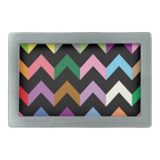 Colorful zigzag pattern belt buckle