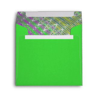 Colorful Zigzag Pattern Envelope