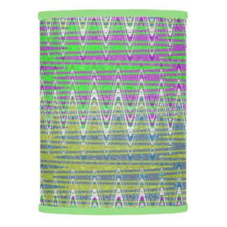 Colorful Zigzag Pattern Lamp Shade