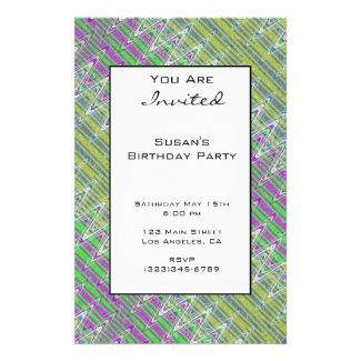 Colorful Zigzag Pattern Party Invitation Flyer