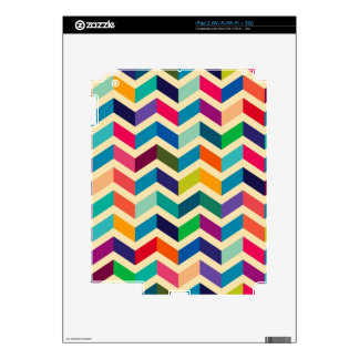 Colorful Zigzag Pattern Skins For The iPad 2