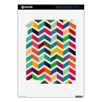 Colorful Zigzag Pattern Skin For iPad 3