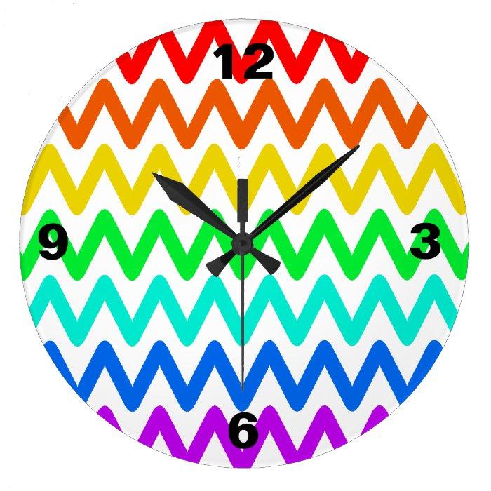Colorful ZigZag Pattern - Wall Clock