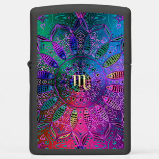 Colorful Zodiac Sign Scorpio Zippo Lighter