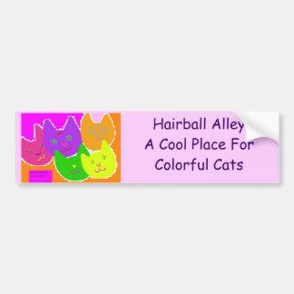 ColorfulCatsAa 3.cdt.cdc, Hairball AlleyA Cool ... Bumper Sticker