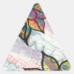 ColorfulFlowers.jpeg Pegatina Triangulo