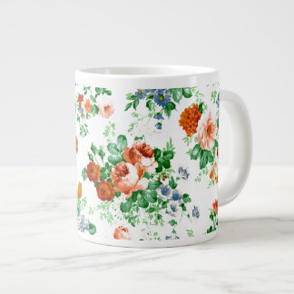 ColorfulFlowers y modelo de los rosas Taza Grande