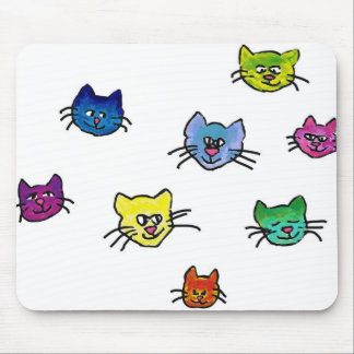 colorfulhapinekko mouse pad
