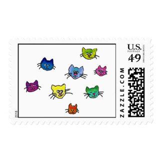 colorfulhapinekko postage stamps