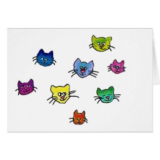 colorfulhapinekko tarjeta de felicitación
