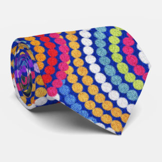 Colorfull Aboriginal Dot Art Pattern Tie
