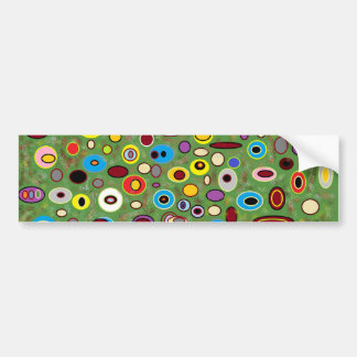 Colorfull abstract bumper sticker