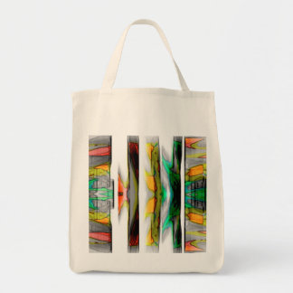 colorfull abstract design tote bag