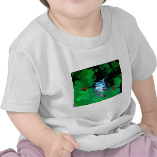 Colorfull abstract whimsicle art with lady bugs t shirt