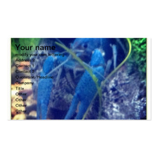 colorfull blue lobster business card