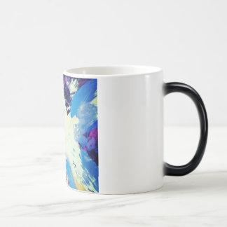 colorfull blue painting pattern coffee mug